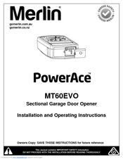 Merlin Tiltmaster MT100EVO Manuals