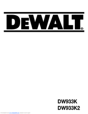 Dewalt dw933k operator's manual pdf download.