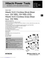 Hitachi CH 10DL Technical Data And Service Manual