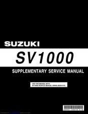 suzuki sv1000 service manual pdf download rh manualslib com SV1000 Full Fairing 2005 SV1000