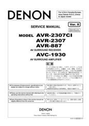 denon avr 887 manuals rh manualslib com Remote for Denon AVR-2805 Denon AVR 2805 Review
