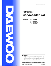 Daewoo FR - 590NW Manuals
