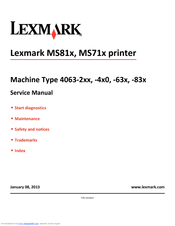 lexmark ms81x ms71x printer service repair manual