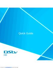 Dstv HD Decoder Manuals