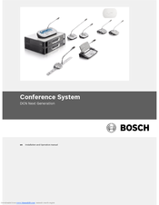 Bosch DCN Next Generation Installation And Operation Manual