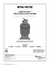 sta rite cristal flo owner s manual pdf download rh manualslib com sta rite de filter manual sta rite system 3 pool filter owners manual