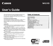 Canon WU10 User Manual