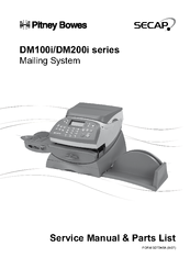 Pitney Bowes DM200i Series Service Manual & Parts List