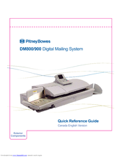 Pitney Bowes DM800 Series Quick Reference Manual