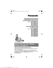 Panasonic KX-TG6553C Operating Instructions Manual