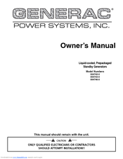 GENERAC POWER SYSTEMS 004742-0 OWNER'S MANUAL Pdf Download