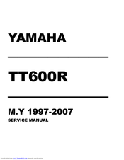 YAMAHA TT600R Service Manual