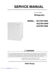 haier hc17sf10rb manuals rh manualslib com Haier Window Air Conditioner Haier Refrigerator Manuals