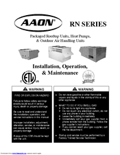 [DIAGRAM_09CH]  Aaon RN Series Manuals | ManualsLib | Aaon Rooftop Units Wiring Diagram |  | ManualsLib