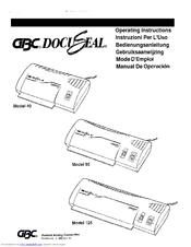 gbc 125 manuals rh manualslib com gbc docuseal 95 laminator manual gbc docuseal 3100 laminator manual