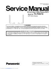panasonic tc p50g10 manuals rh manualslib com Chart for Panasonic TC -P46G10 Blink 42 Panasonic Viera TV