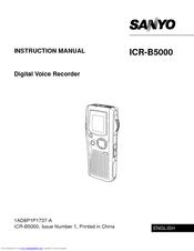 Sanyo ICR-B5000 Instruction Manual