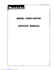 makita eh760 manuals rh manualslib com makita service manuals makita service manual pdf