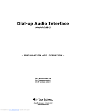 Sine Systems DAI-2 Installation And Operation Manual 54 Pages