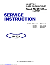Fujitsu AOU12RLFW Service Instructions Manual