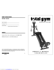 total gym 2000 manual product user guide instruction u2022 rh testdpc co Total Gym 1000 Parts Total Gym 1700 Club