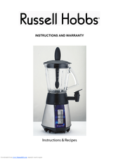 Russell Hobbs Glow Smoothie Maker Instructions And Warranty