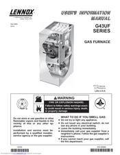 lennox g43uf series manuals rh manualslib com lennox gas furnace installation manual Goodman Gas Furnace
