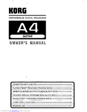 Korg A4 Owner's Manual
