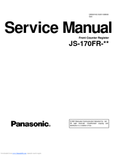 Panasonic JS-170FR-A23 Service Manual