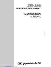JRC JSS-296 - Instruction Manual
