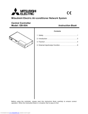 Mitsubishi Electric Central Controller GB-50A Instruction Book