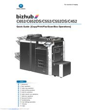 konica minolta bizhub c652 series manuals rh manualslib com Service ManualsOnline Maintenance Manual