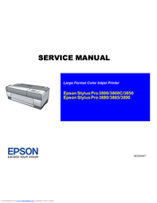 Epson 3880 - Stylus Pro Color Inkjet Printer Service Manual