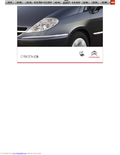 CITROËN C8 User Manual