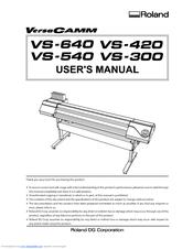 roland vs 540 manuals rh manualslib com roland versacamm vp 540 manual roland versacamm vp-540i manual