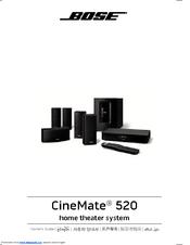 bose cinemate 520 owner s manual pdf download rh manualslib com bose cinemate 15 user manual bose cinemate user manual