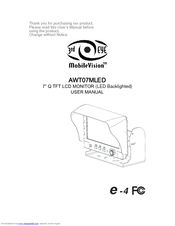3rd eye mobile vision awt07mled manuals rh manualslib com Automotive Wiring Diagrams Simple Wiring Diagrams