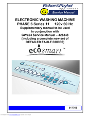 Fisher Paykel Ecosmart Gwl11 Service Manual
