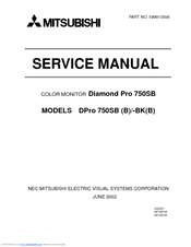 MITSUBISHI DIAMOND PRO 750SB SERVICE MANUAL Pdf Download