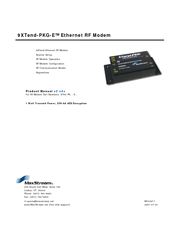 Manuals And User Guides For Maxstream Xtend Pkg E We Have Xtend Pkg E Manual Available For Free Pdf Download Product Manual