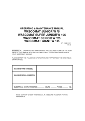 wascomat senior w 125 manuals Rally Wiring Diagram wascomat senior w 125 operating \u0026 maintenance manual