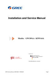 GREE GWC09AA INSTALLATION AND SERVICE MANUAL Pdf Download