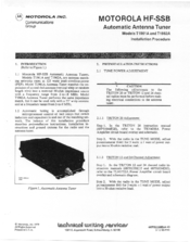 Motorola HF-SSB T1962A Installation Procedures Manual