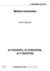 Mitsubishi Electric A172SHCPUN User Manual