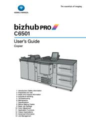 konica minolta bizhub pro c6501 manuals rh manualslib com Konica Minolta Bizhub C550 Konica Minolta Bizhub C450