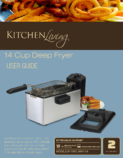 Kitchen Living User Manual (11 Pages). 14 Cup Deep Fryer