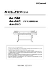 ROLAND SJ-740 USER MANUAL Pdf Download
