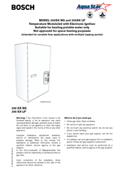 bosch aqua star 250sx lp manuals rh manualslib com bosch aquastar dishwasher troubleshooting bosch aquastar 6.5l dishwasher manual
