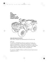 HONDA TRX500FE OWNER'S MANUAL Pdf Download