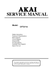 akai cft2716 manuals rh manualslib com Example User Guide User Manual
